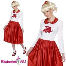 Grease Sandy Costume Licensed 50s Rydell High Cheerleader 1950s Fancy Dress Up