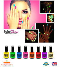 Paint Glow GLOW IN THE DARK Nail Varnish Bright Fluorescent Neon Nail Polish