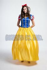 Adult Princess Snow white Costume Cosplay Ladies Fairytale halloween Party Dress