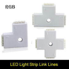 Connector Female 4 Pins 3way T Shape For Led Strip Light RGB 5050 3528 DIY + Pin