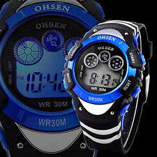 Classic OHSEN Digital LCD Alarm Sport Rubber Army Quartz Date Wrist Watch