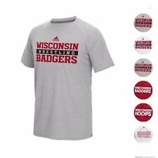 WISCONSIN BADGERS ADIDAS NCAA CLIMALITE ULTIMATE PERFORMANCE T-SHIRT MEN'S