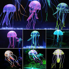 Glow Effect Artificial Jellyfish Fish Tank Aquarium Ornament Silicone Decoration