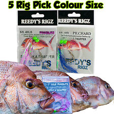 5x Snapper Snatcher fishing Rig Flasher Circle Hook Paternoster Rigs Jig Baits