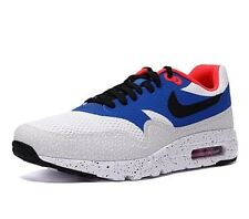 Mens Nike Air Max 1 Ultra Essential 819476-104 WHT/BLK-VRSTY RYL Sizes 9.5-10.5