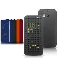 New Ultra Thin DOT View Matrix Mesh Smart Flip Case Cover for HTC Smart Phone