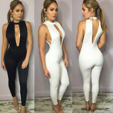 Sexy Sleeveless Women Bodysuit Jumper Bodycon Bandage Jumpsuit Long Romper Pants