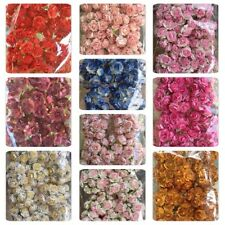 50 Artificial Mulberry Paper flowers Handmade Scrap-booking Tiny Rose 25 mm