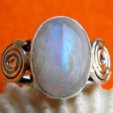 925 Sterling Silver Rainbow Moonstone Ring,Silver Ring,stone ring Moonstone Ring