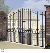 Tall Metal Driveway Bow Top Gates Balmoral 6ft Tall x 7/ 8/ 9/10/11/12ft Opening