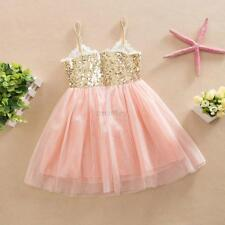 Sequins Princess Girls Summer Tutu Dress Baby Party Pageant Tulle Dress 0-36M