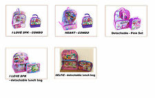 """* New *-   16"""" Large Shopkins Backpack and Lunch Bag"""