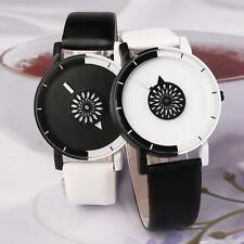 Latest Charm Women Lady PU Leather Strap Quartz Analog Wristwatch Casual Gift