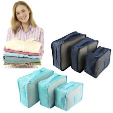 6Pcs Waterproof Clothes Storage Bags Packing Cube Travel Luggage Pouch new
