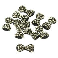 10Pcs 3D Nail Art Stickers Bowknot Rhinestone Metal Alloy Nail Tip Decoration