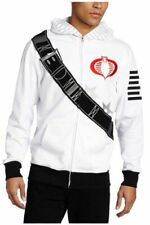 Adult Men's White Hasbro Mad Engine G.I. Joe I am Storm Fleece Costume Hoodie