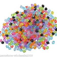 Wholesale Lots Mixed Bicone Acrylic Tiny Spacers Beads 6x6mm