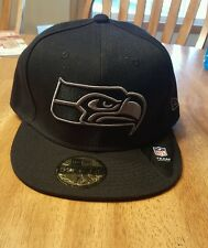 Official Seattle Seahawks New Era NFL Black Gray Basic 59FIFTY Fitted Hat Cap