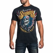 Affliction Men's Sturgis Motorcycle 75th Anniversary T-Shirt Black Lava A12160