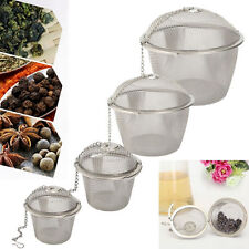 Stainless Steel Mesh Ball Tea Leaf Strainer Infuser Filter Diffuser AT