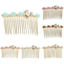 Multi-color Flower Diamante Rhinestone Slide Comb Hair Accessories Headpiece