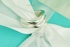 Tiffany & Co. Sterling Silver Double Wave Ring Size 5 (#V035B)
