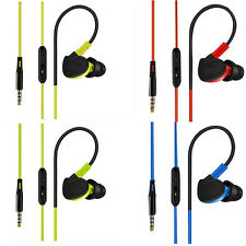 Hot Ear Hook Sport Stereo Microphone Earphones Earbuds Headset With Mic Earpiece
