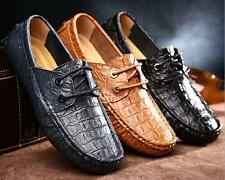 Fashion Mens Leather lac up  Loafer Moccasin Driving shoes plus size