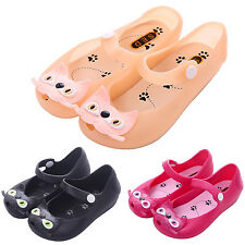 TODDLER Kids Girls Patern bow cat head jelly Sneakers Soft Sole Crib Shoes Flats