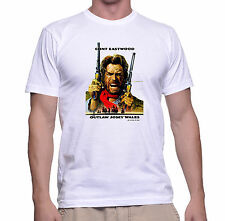 CLINT EASTWOOD Outlaw Josey Wales WESTERN MOVIE Retro Vintage  T SHIRT