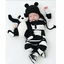 Infant Baby Toddler Baby Boys Girls Long Sleeve Striped Bodysuit Romper Outfits