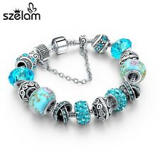 Charm Bracelets For Women 925 Silver Chain Bracelets & Bangles DIY Jewelry