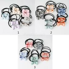 10 Lot Elastic Hair Ties Band Bow Hairbows Ponytail Holder - Girls Womens Ladies