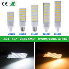E27/G24 LED Horizontal Plug 2835SMD Corn Light Bulb Lamp 5W//W 9W/10W/12W/13W
