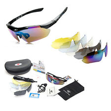 Professional Polarized Cycling Glasses Travel Riding Sunglasses 5Lens Goggles