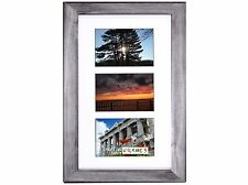 CPF - 3 Opening 10x16 Glass Face Black Picture Frame Holds 4x6 Photo