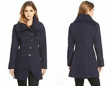 Guess winter jacket Asymmetrical Cutaway Coat navy NEW 2016 $299
