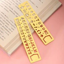 1Pc Figure Letter Template Stencil Ruler Mathematics Metric Drawing Drafting