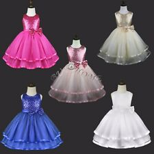 Party Wedding Flower Girls Princess Sequin Pageant Easter Dress Toddler Birthday