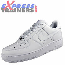 Nike Mens Air Force 1 Low Classic Leather Trainers White * AUTHENTIC *