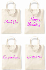 Thany You Congratulations Happy Birthday Get Well Soon Neon Pink Small Tote Bag
