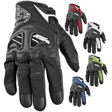 Speed and Strength Run With The Bulls Leather-Mesh Motorcycle Gloves