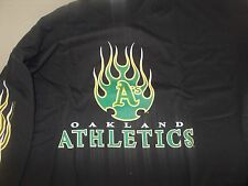 OAKLAND ATHLETICS FLAMING LOGO LONG SLEEVE T-SHIRT SIZE MEDIUM, LARGE, XXL MLB