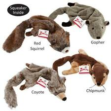 Stuffing Free Dog Toys, Chipmunk Coyote Gopher Red Squirrel Unstuffies Zanies