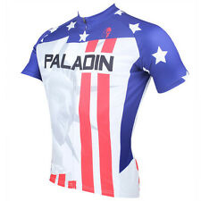 v Men Statue of Liberty Short Sleeve Cycling Jersey Bike Bicycle Sportwear D008