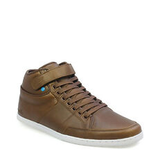 Boxfresh Swich Mens Bitter Chocolate Brown Ankle Shoes Hi Tops Casual Trainers