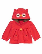 New Gymboree Adorable OWL Fall Baby Girls SZ 0 3mo 6mo Owl Hoodie Jacket