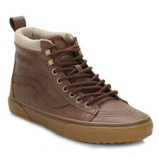 Vans Mens Trainers Brown/Herringbone SK8-Hi MTE Lace Up Leather Casual Shoes