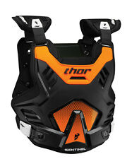 THOR MX Motocross SENTINEL GP Chest Protector/Roost Guard (Blk/Orng) Choose Size