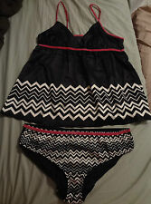 NEW SZ L & XL MISSONI FOR TARGET BABY DOLL LINGERIE 2 PC CAMISOL SET EXTRA LARGE